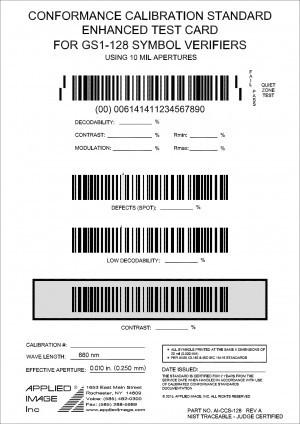 GS1-128 Test Card